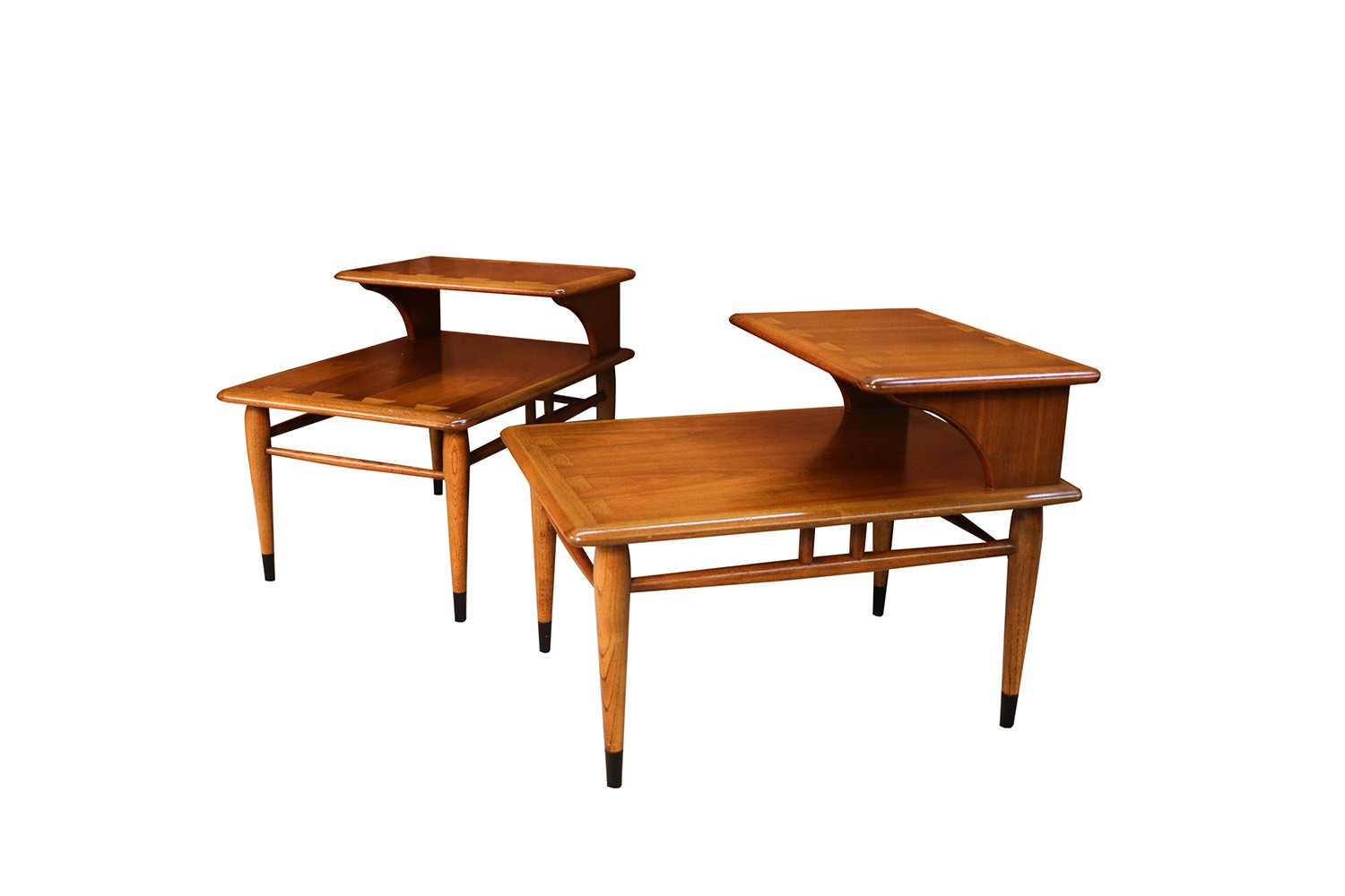 705ff9c904b4c Mid Century Lane Acclaim Dovetail Two Tier End Tables Pair -