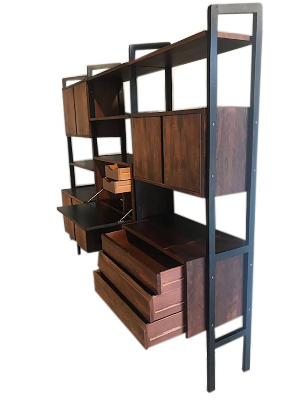 Mid Century Modern Room Divider Bookcase Hutch Desk