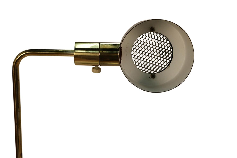 Image of: Pair Mid Century Casella Pharmacy Brass Floor Lamps