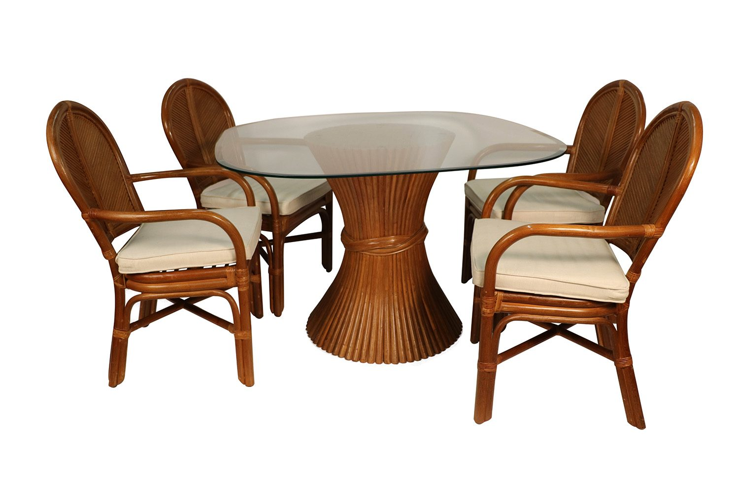 Superb Sheaf Of Wheat Rattan Dining Table And Chairs Short Links Chair Design For Home Short Linksinfo