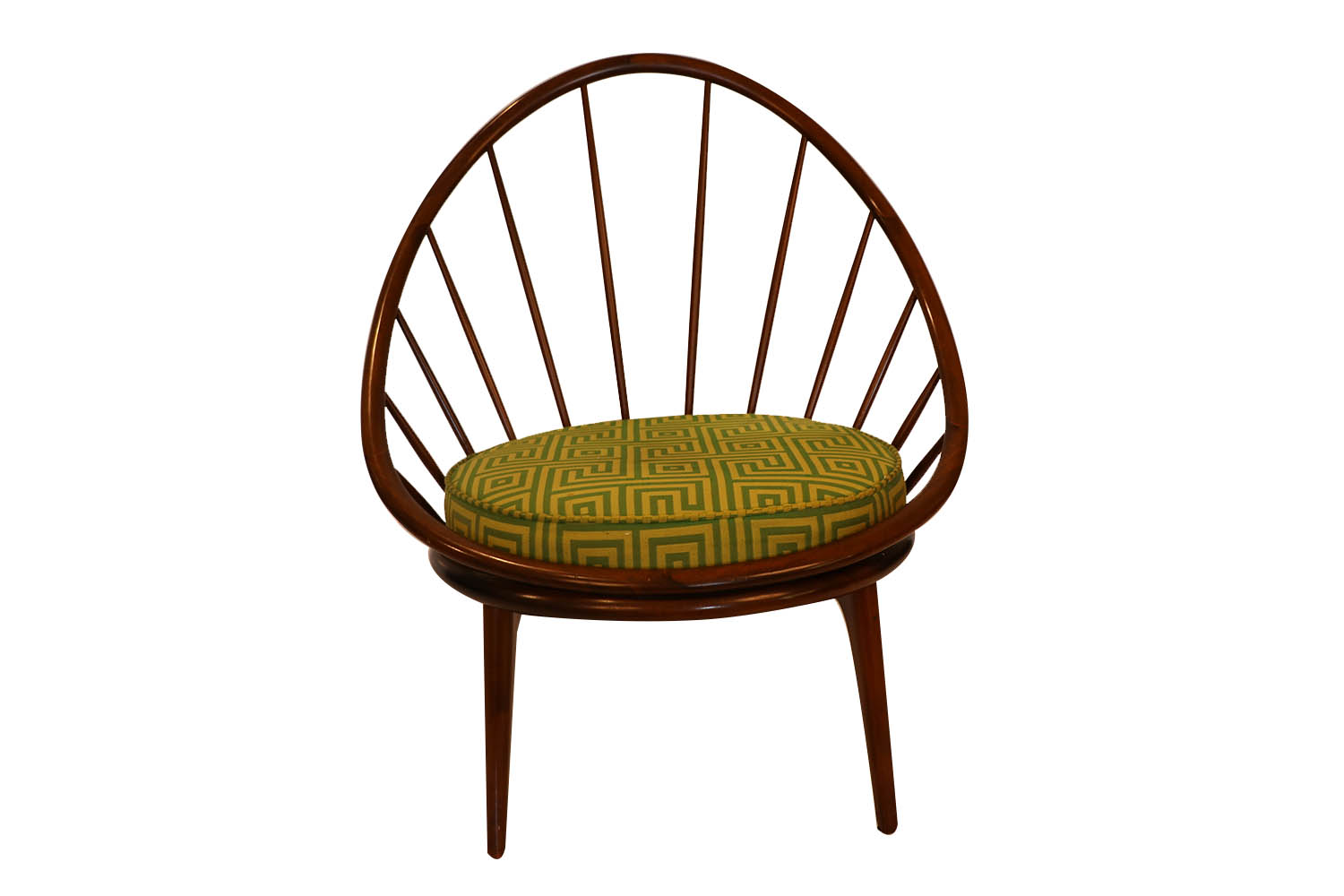 Picture of: Mid Century Danish Hoop Style Chair With Spindle Back Ib Kofod Larsen For Selig