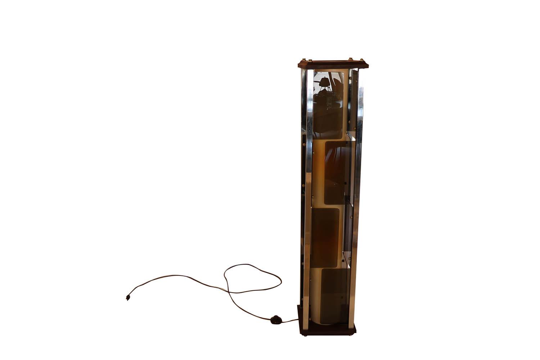 Mid Century Lucite Paneled Rectangular Floor Lamp