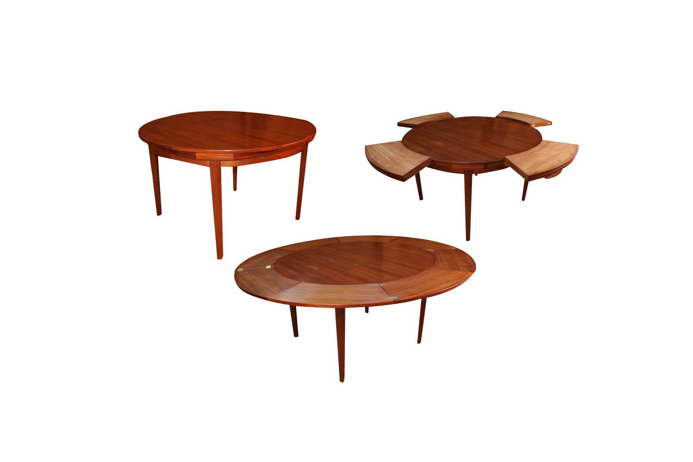 Mid Century Teak Danish Dyrlund Flip Flap Dining Table