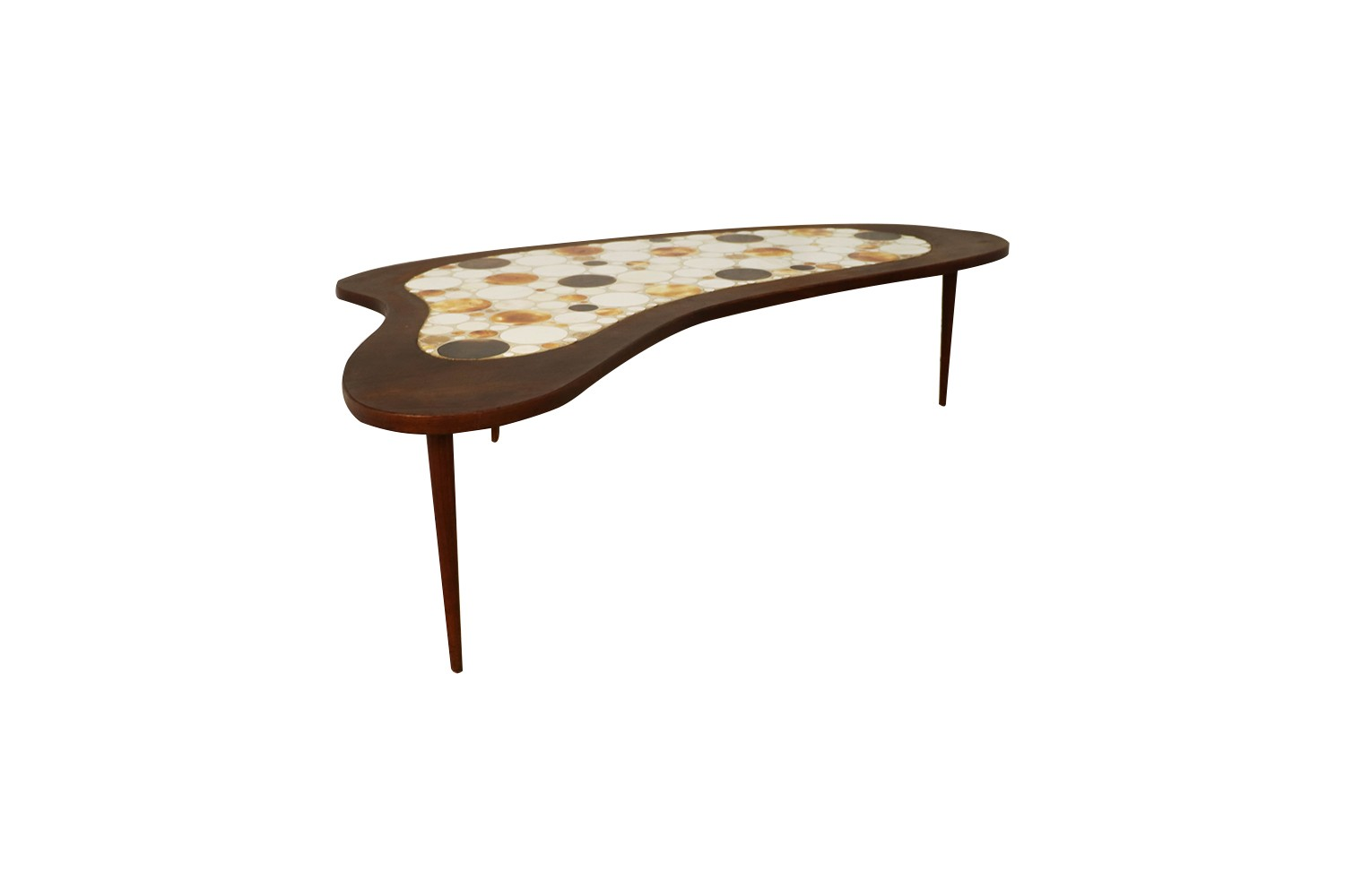 Swell Mid Century Mosaic Tile Top Kidney Shaped Coffee Table Ocoug Best Dining Table And Chair Ideas Images Ocougorg