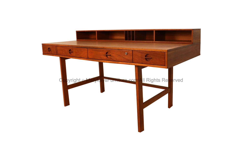 Image of: Peter Lovig Nielsen Danish Modern Teak Flip Top Desk