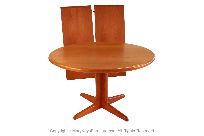 Mid Century Danish Teak Extendable Dining Table