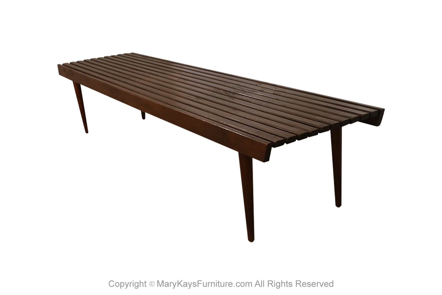 Picture of: Extra Long Mid Century Slatted Wood Bench Coffee Table George Nelson Style