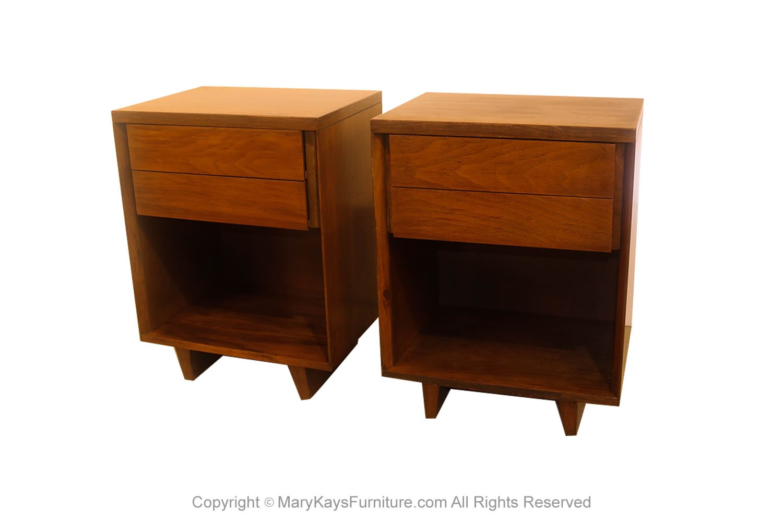 Vintage John Stuart Mid Century Nightstands Pair Mary Kay S Furniture