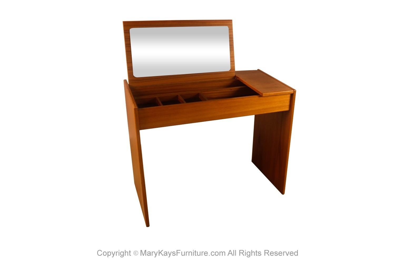 Mid Century Danish Teak Vanity Desk Scan Coll Mary Kay S Furniture