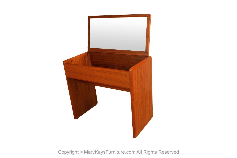 Mid Century Danish Teak Vanity Desk Mary Kay S Furniture